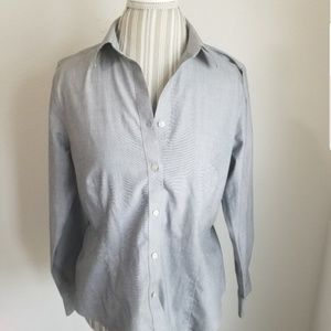 Talbots | Grey Dress Shirt
